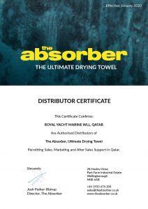absorber-distributor-certificate