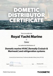 dometic-distributor-certificate