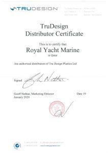 trudesign-distributor-certificate