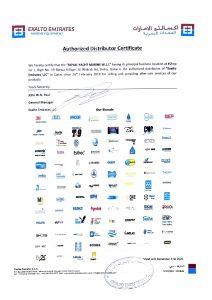 exalto_marine_distributor_certificate
